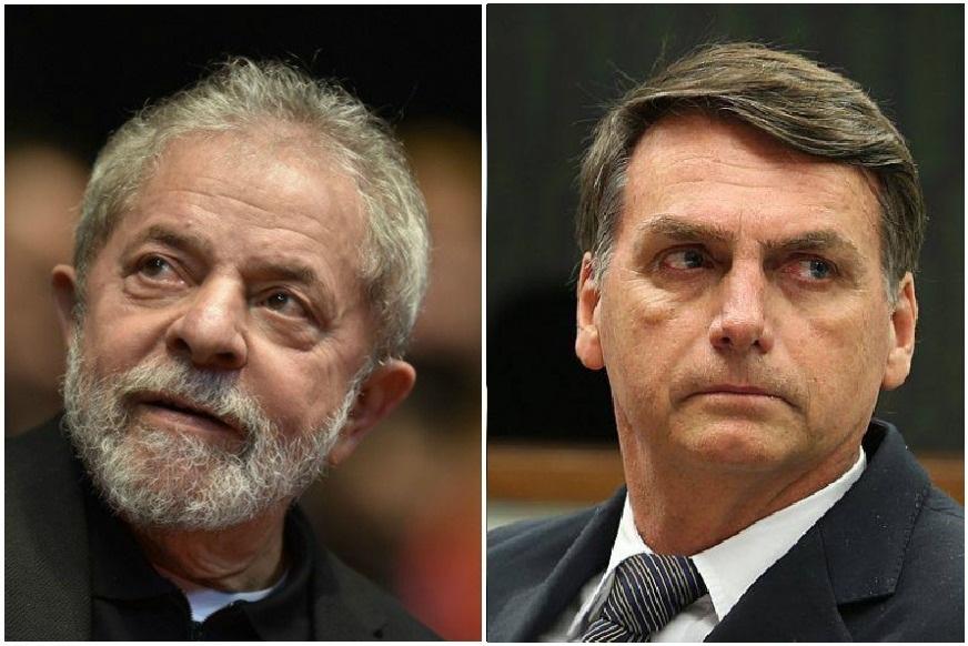 Imagem mostra Bolsonaro e comitiva contemplando Lula em museu