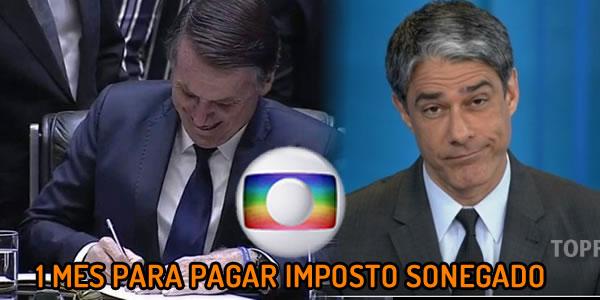 Bolsonaro não autorizou a execução da dívida da Globo de R$ 358 milhões