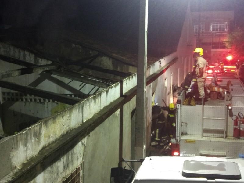 Incêndio atinge prédio em Ingá e destrói arquivo morto da Prefeitura