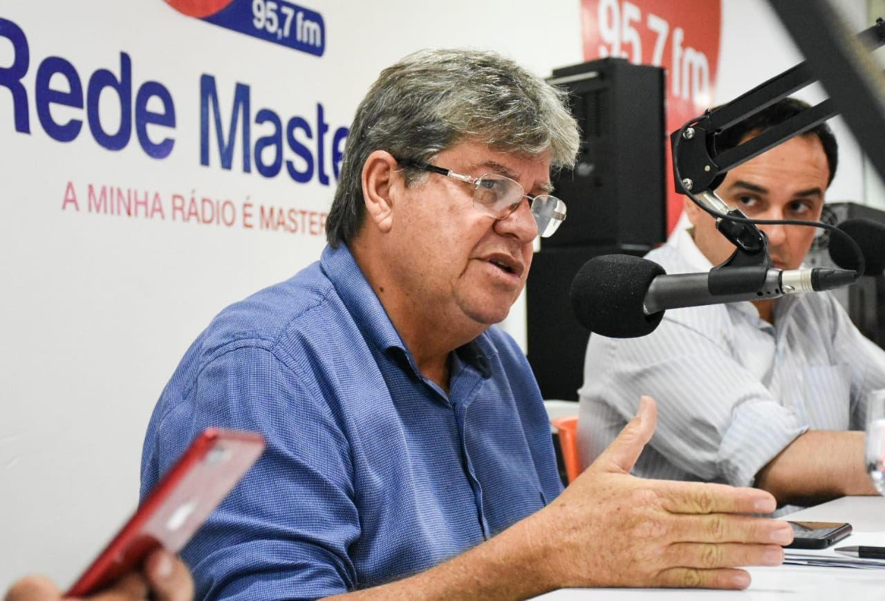 Paraíba é estado que mais testa no NE, diz João; meta é testar 10% da população
