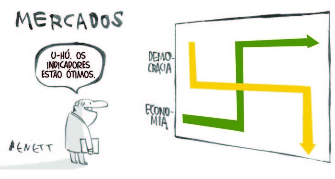 Veja charges publicadas pelo Brasil nesta segunda-feira