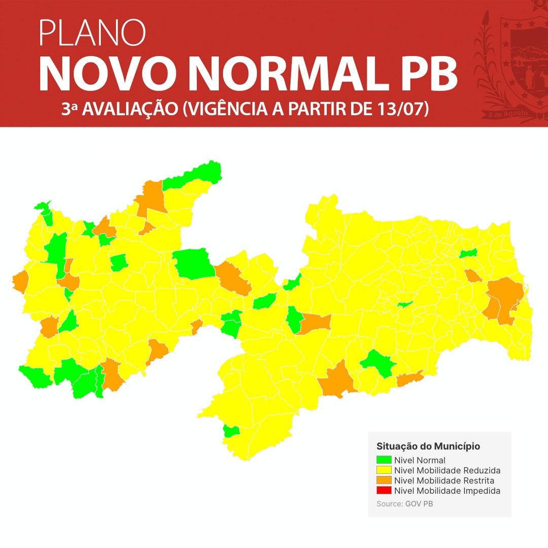 'Plano Novo Normal': 182 municípios da Paraíba já podem abrir comércio