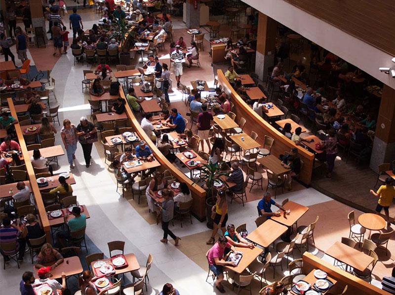 Praças de alimentação em shoppings de JP voltam a funcionar hoje