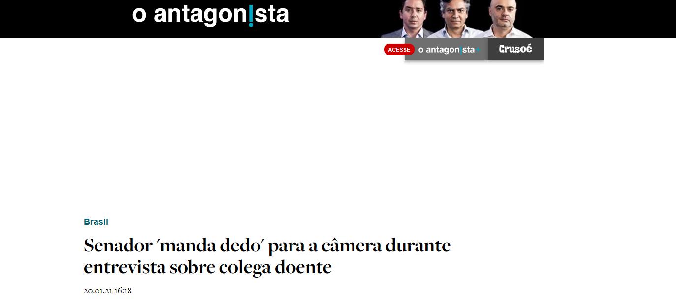 Mídia nacional repercute gesto obsceno de Ney Suassuna em entrevista ao vivo
