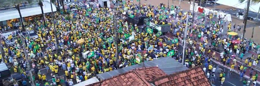 Manifestantes fazem ato em apoio a Bolsonaro em João Pessoa e Campina Grande